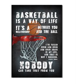 Basketbol Serisi B Kanvas Tablo 50x70 cm