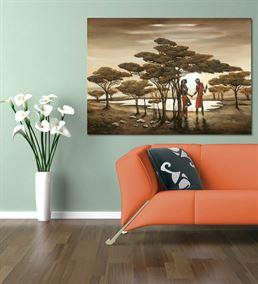 Bir Sonbahar Randevusu Kanvas Tablo 60x90 cm