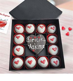 Biricik Aşkıma Çikolatalı Truffle Kutusu