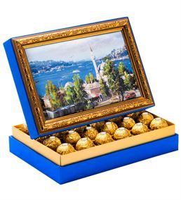 Cami Manzara Çerçeveli Çikolata Kutusu