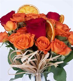 Carignan Serisi Lovely Turuncu Kırmızı Güller