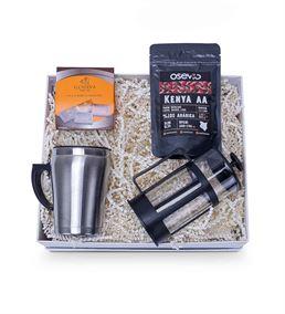 Çelik Termos ve Kahve Hediye Kutusu