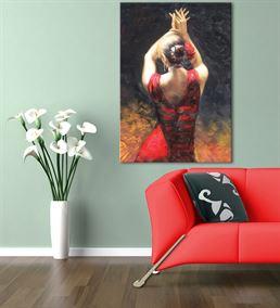 Dansçı Kadın Kanvas Tablo 75x100cm