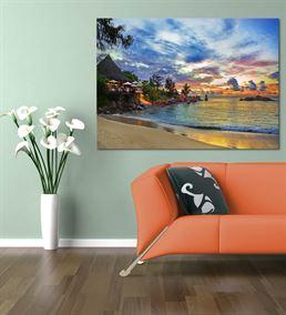 Deniz Kenarı Serisi B Kanvas Tablo 35x50 cm