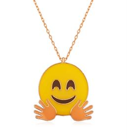 El Sallayan Emoji Tasarımlı Bayan Kolye