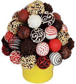 Enfes Çikolata Lezzet Topları Meyve Sepeti