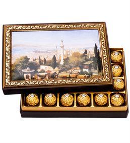 Eski İstanbul Çerçeveli Çikolata Hediye Kutusu