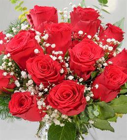 Eşsiz Aşk 13 Kırmızı Gül Aranjmanı