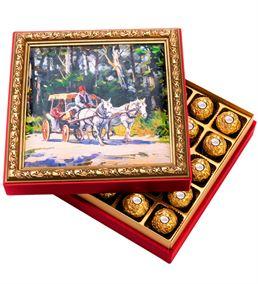 Fayton Çerçeveli Çikolata Kutusu