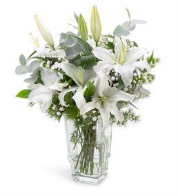Graciosa Kokulu Beyaz Lilyum Aranjmanı