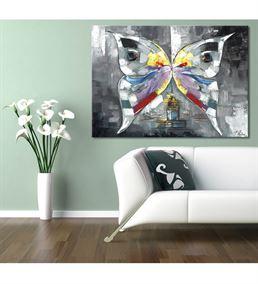 Harmoni Kelebek Kanvas Tablo 50x70 cm
