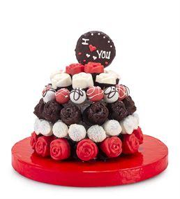 I Love You Çikolatalı Kek Buketi Aranjmanı