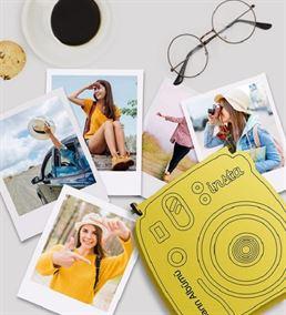 İnstax Tasarımlı Ahşap Kutu Ve Polaroid Fotoğraf