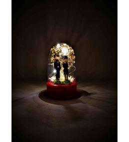 Işıklı Fanus Mutlu Çift Teraryum-Ebamtf0008