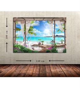 İskele Büyük Boy  Kanvas Tablo 100x150 cm