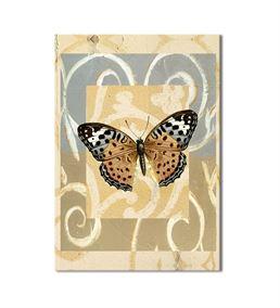 Kahverengi Kelebek Kanvas Tablo 75x100 cm