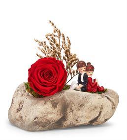 Kapadokya Kırmızı Solmayan Gül ve Sevgililer