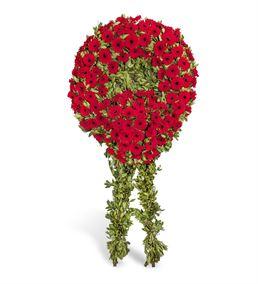 Kırmızı Gerbera Cenaze Çelengi