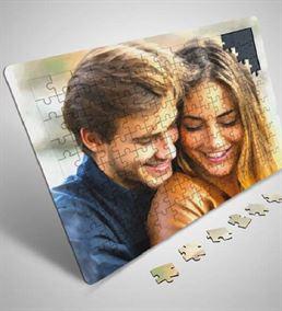 Kişiye Özel Fotoğraf Ve İsimli Premium A3 Puzzle