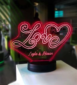 Kişiye Özel Love Led Gece Lambası