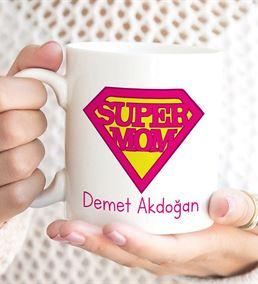 Kişiye Özel Süper Mom Baskılı Kupa Bardak