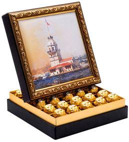 Kız Kulesi Çerçeveli Çikolata Kutusu