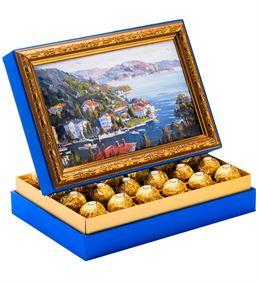Köşk Manzara Çerçeveli Çikolata Kutusu
