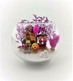 Küçük Fanus Teraryum Bahçeli Evimiz-Fns 0007