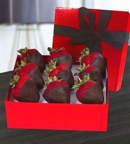 Kutuda Çikolatalı Çilek Elma Buketi