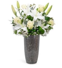 La Vega Tasarım Mis Kokulu Lilyum ve Beyaz Güller