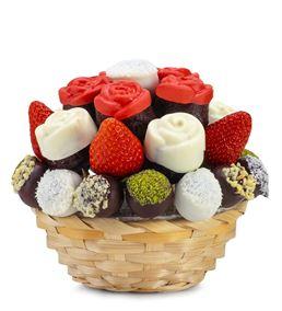 Leziz Tatlar Kek Meyve Sepeti Aranjmanı