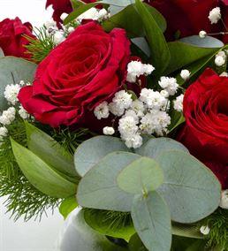 Love Beads Cam Fanus 9 Kırmızı Gül