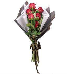 Love You Serisi Premium Kırmızı Gül Tasarım Buketi
