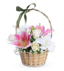 Martha Serisi Kokulu Lilyumlar Gül Çiçek Sepeti