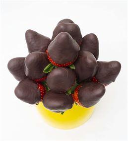 Mini Lezzet Çikolatalı Çilek Buketi