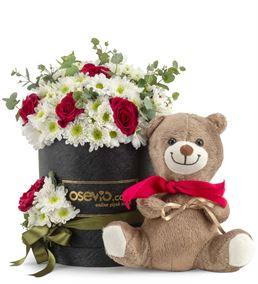 Montenero Kutuda Mutlu Ayıcık ve Papatyalı Güller