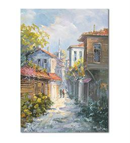 Nostalji Sokaklar Serisi B Kanvas Tablo 35x50 cm