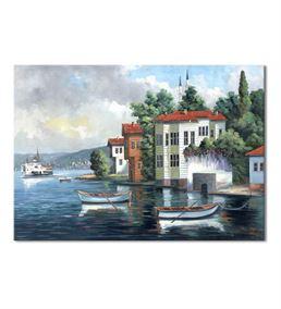 Nostalji Yalılar Serisi G Kanvas Tablo 75x100 cm