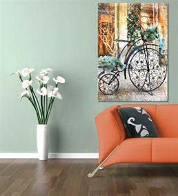 Nostaljik Bisiklet Serisi B Kanvas Tablo 20x30 cm