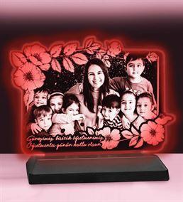 Öğretmenler Gününe Özel Çiçekli Dikdörtgen 3d LED