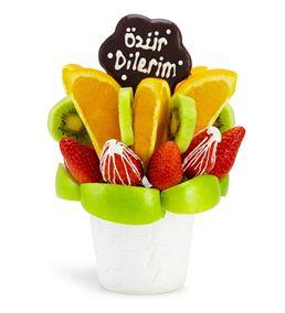 Özür Dilerim Mesajlı Meyve Sepeti Aranjmanı