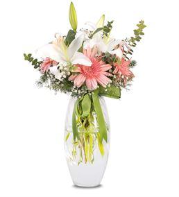 Pembe Beyaz Zarif Çiçekler