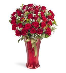 Premium Vazoda 41 Kırmızı Gül Aranjmanı