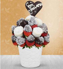 Seni Seviyorum Mesajlı Meyve Sepeti Aranjmanı