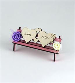 Sevgiliye Hediye Aşk Dolu Ahşap Bank