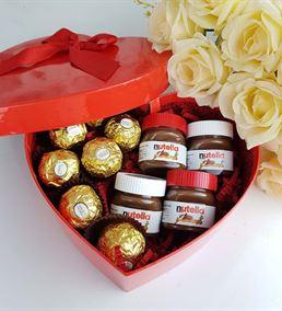 Sevgiliye Hediye Mini Nutella Ferrero Çikolata Sep