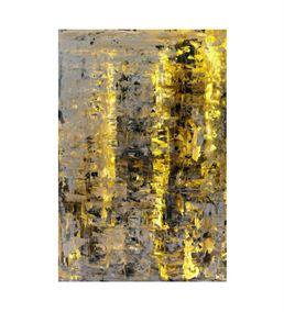Soyut Altın Siyah 20x30 cm Kanvas Tablo