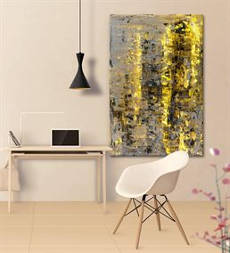 Soyut Altın Siyah Kanvas Tablo 75x100cm