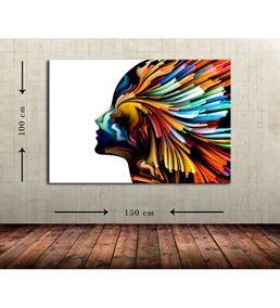 Soyut Kadın 2 Büyük Boy  Kanvas Tablo 100x150 cm