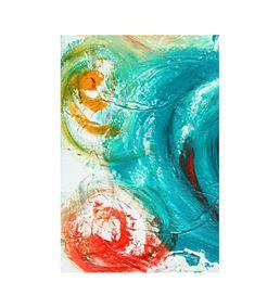 Soyut Mavi 20x30 cm Kanvas Tablo